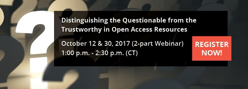 Distinguishing the Questionable from the Trustworthy in Open Access Resources
